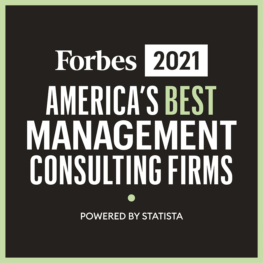 We are proud to be recognized as one of America's Best Management Consulting Firms in the following areas icon